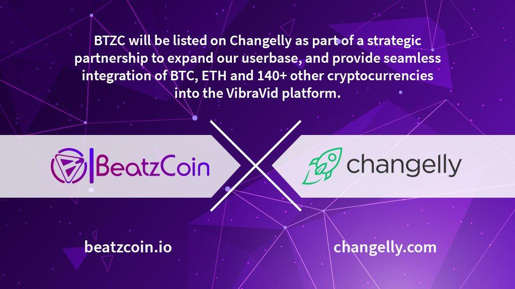 Changelly and BeatzCoin Announce Partnership