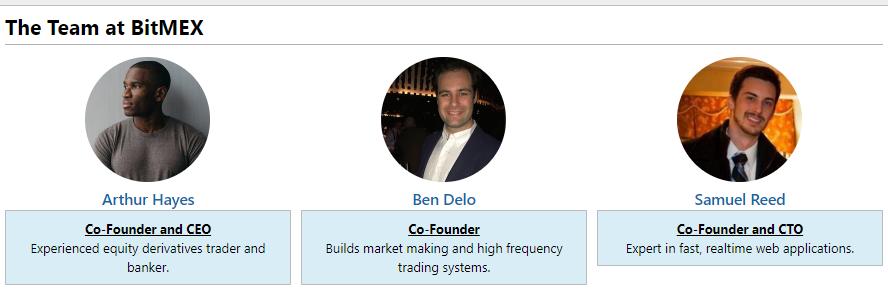 bitmex bitcoin exchange team