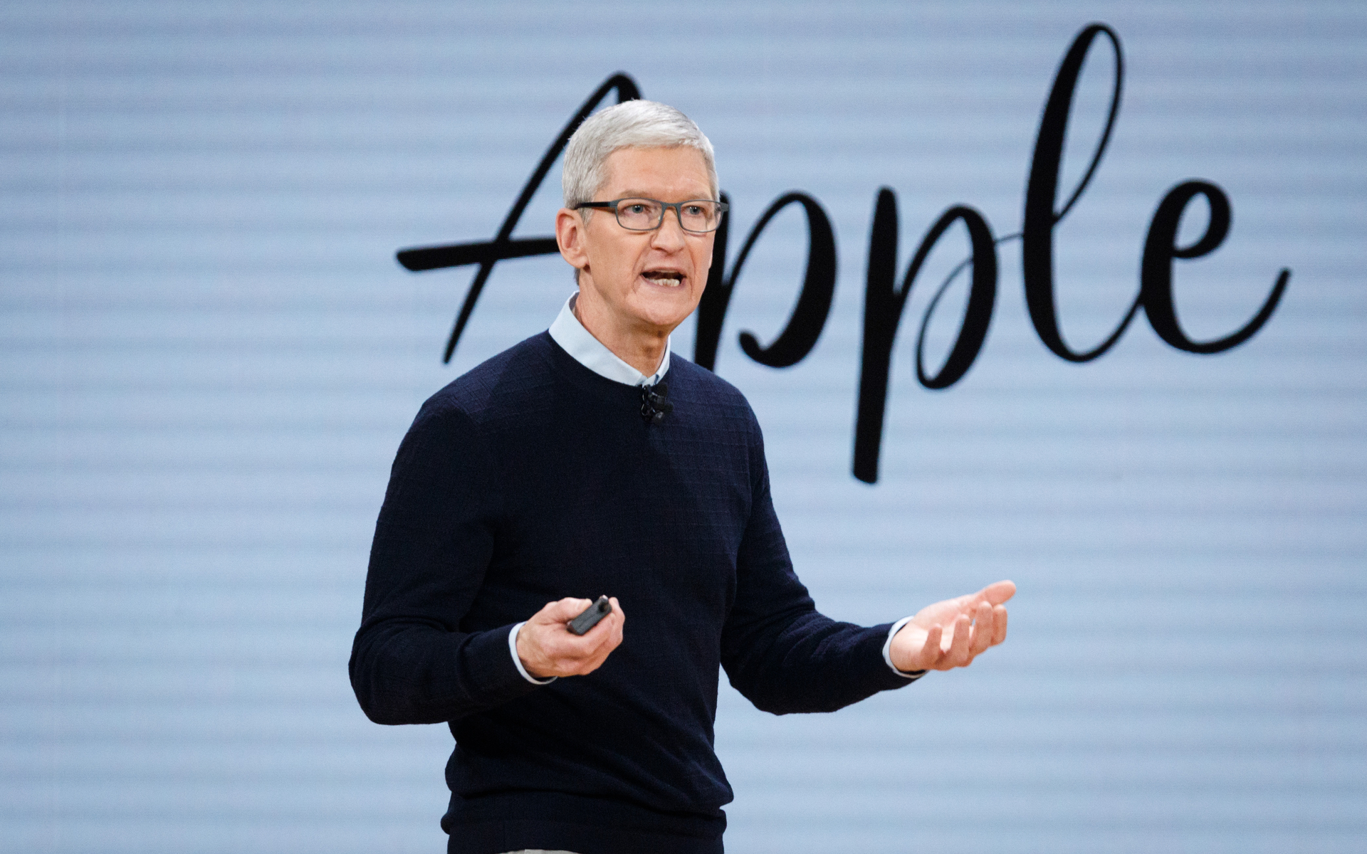 Apple CEO Tim Cook talking about crypto