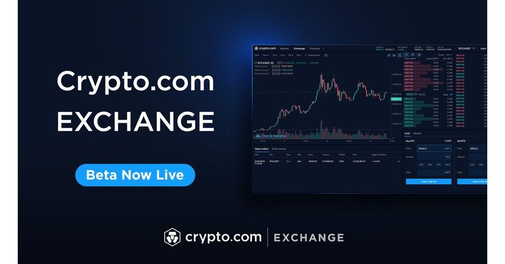 Crypto.com new beta exchange announcement