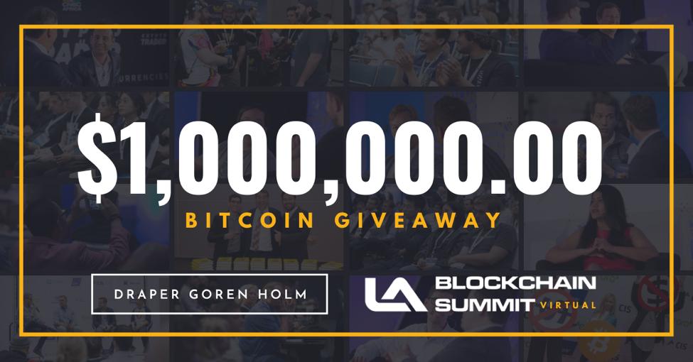 LA Blockchain Summit is giving away $1 million in Bitcoin