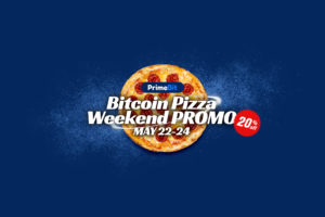 Let's Celebrate Bitcoin With a Three-Day PrimeBit Pizza Weekend Promo