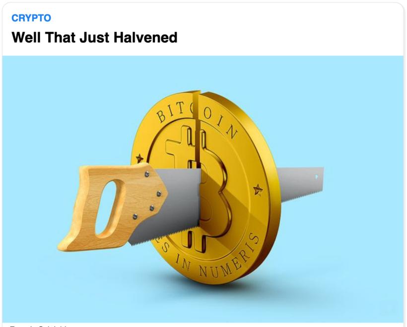 bitcoin halving newsletter headline