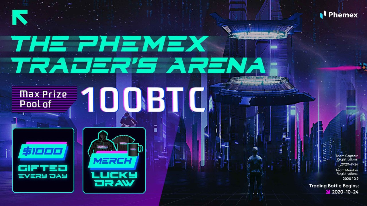 Join Phemex Trader's Arena; Unravel Up To 100 Bitcoins (BTC)