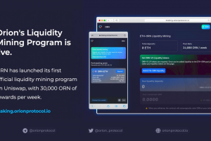Orion Protocol Launches Its Liquidity Mining Program on Uniswap