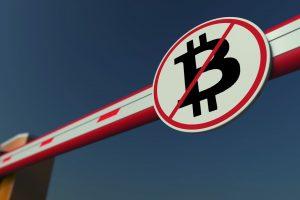 bitcoin ban bank Microstrategy