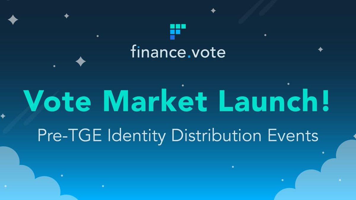 Finance.vote launches Vote Markets: How to Get Access?