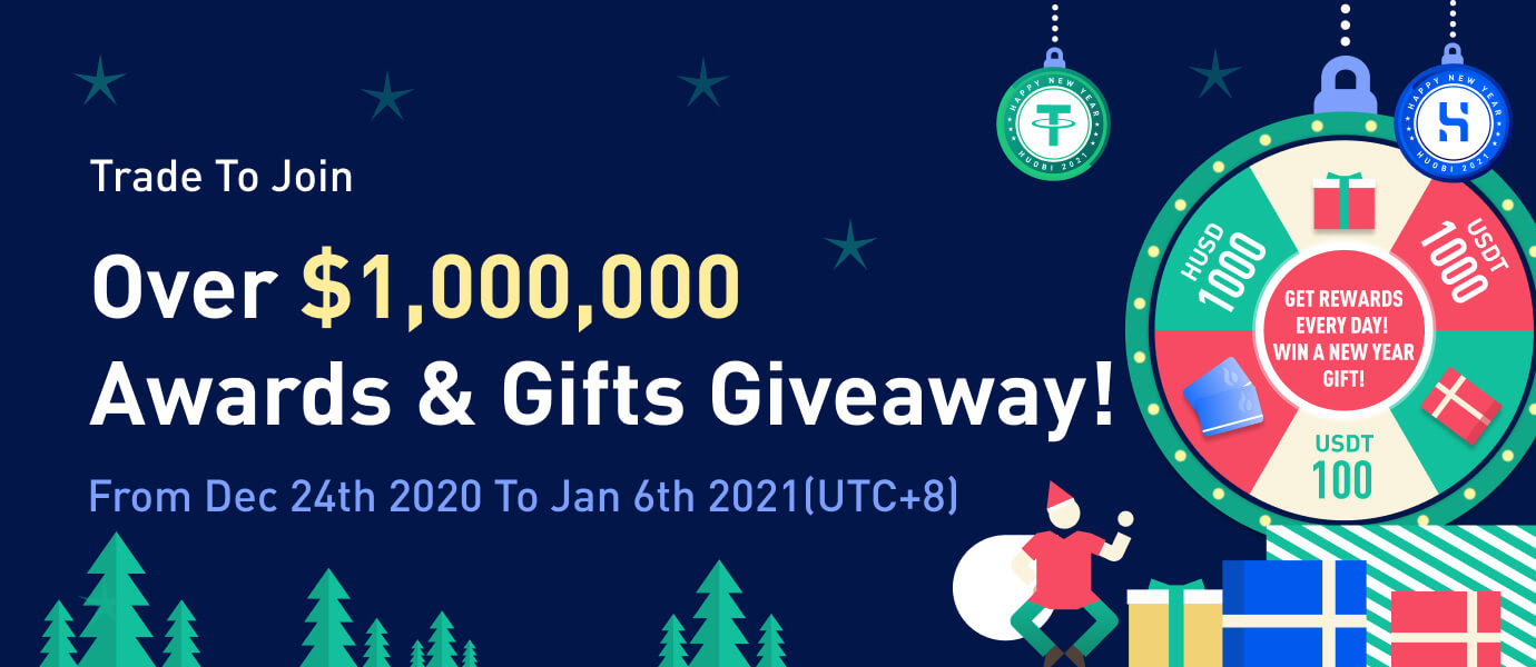 <bold>Huobi</bold> Ends 2020 With Fireworks, Happy New Year Gift Giveaways, and a $1 Million Prize
