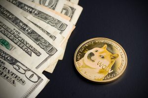 Dogecoin and dollars.
