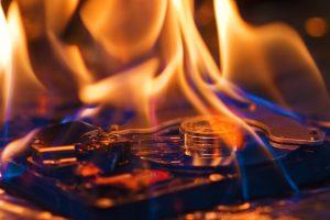 bitcoin hard drive fire