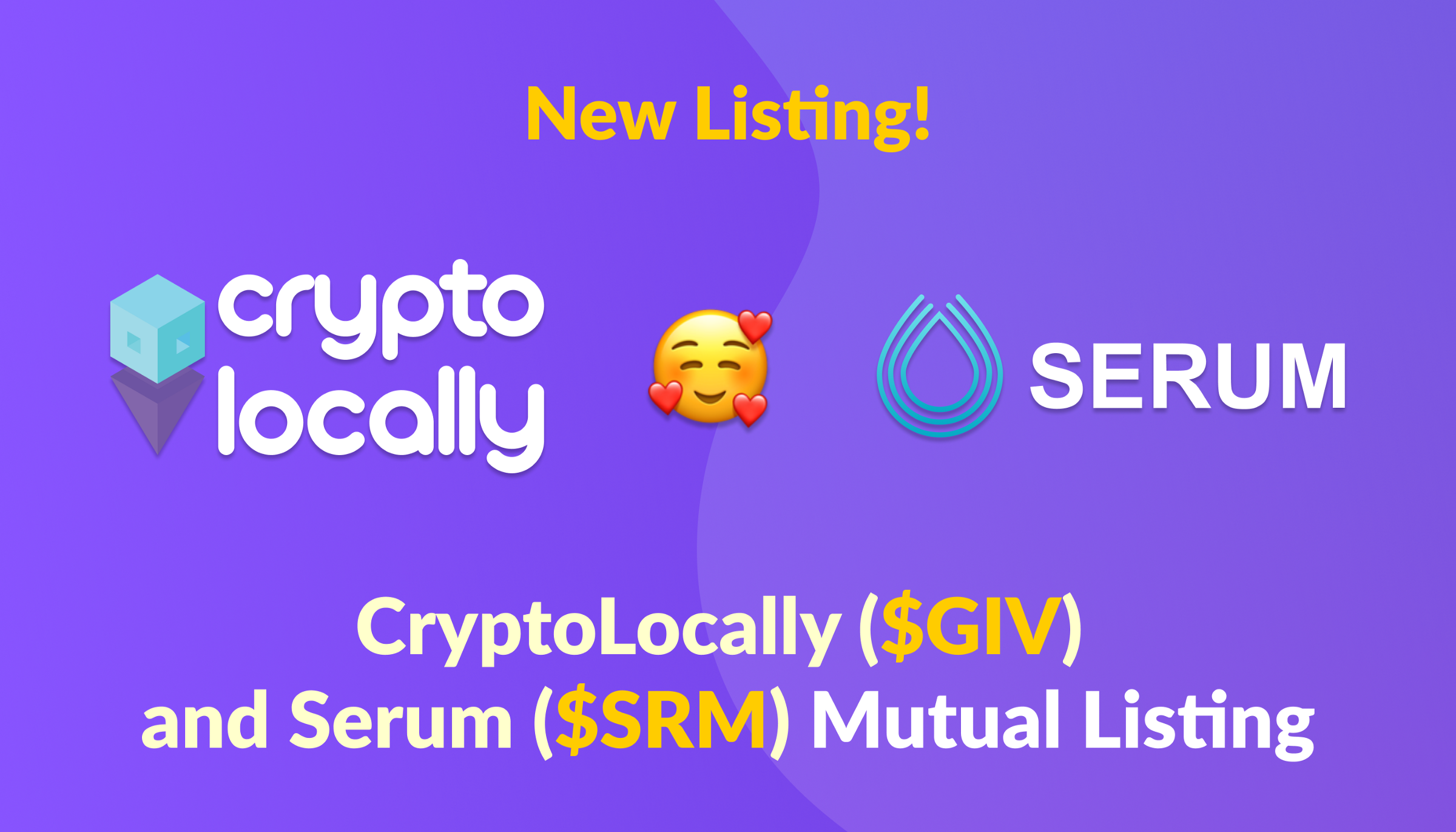 Cryptocurrency CryptoLocally And Serum Announce Mutual Listing Of Tokens