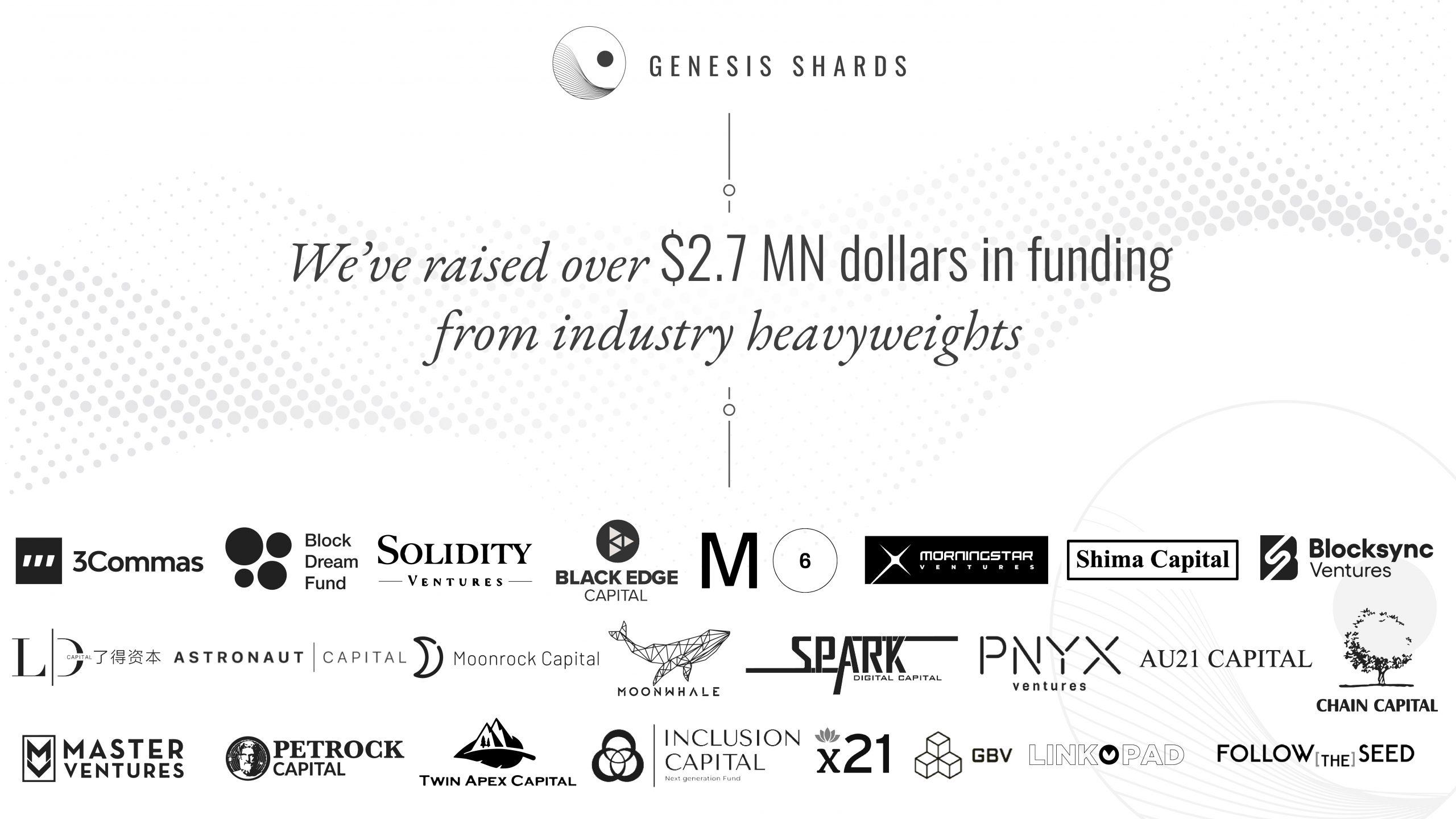 Genesis Shards raises $2.7M to create new Pre-IDO market using DeFi NFT options