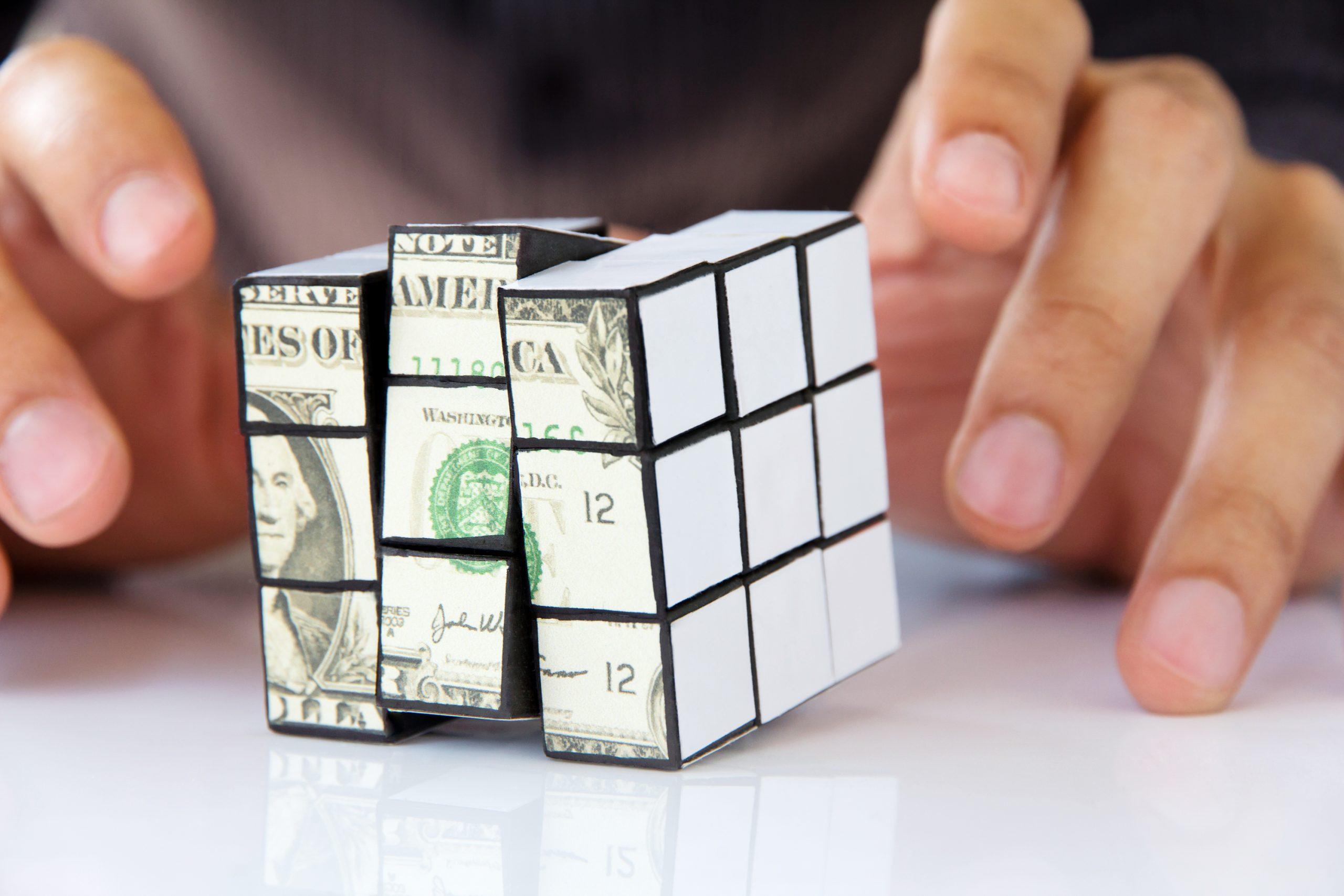 dollar bitcoin rubiks cube