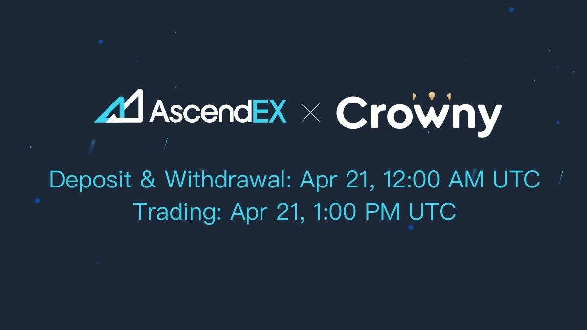 Crowny Listing on AscendEX