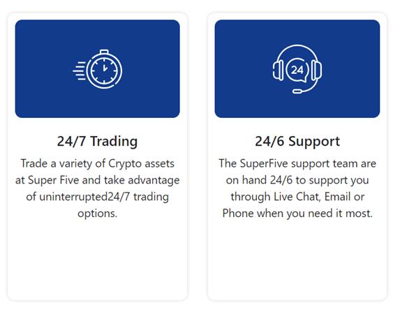 SuperFive crypto trading