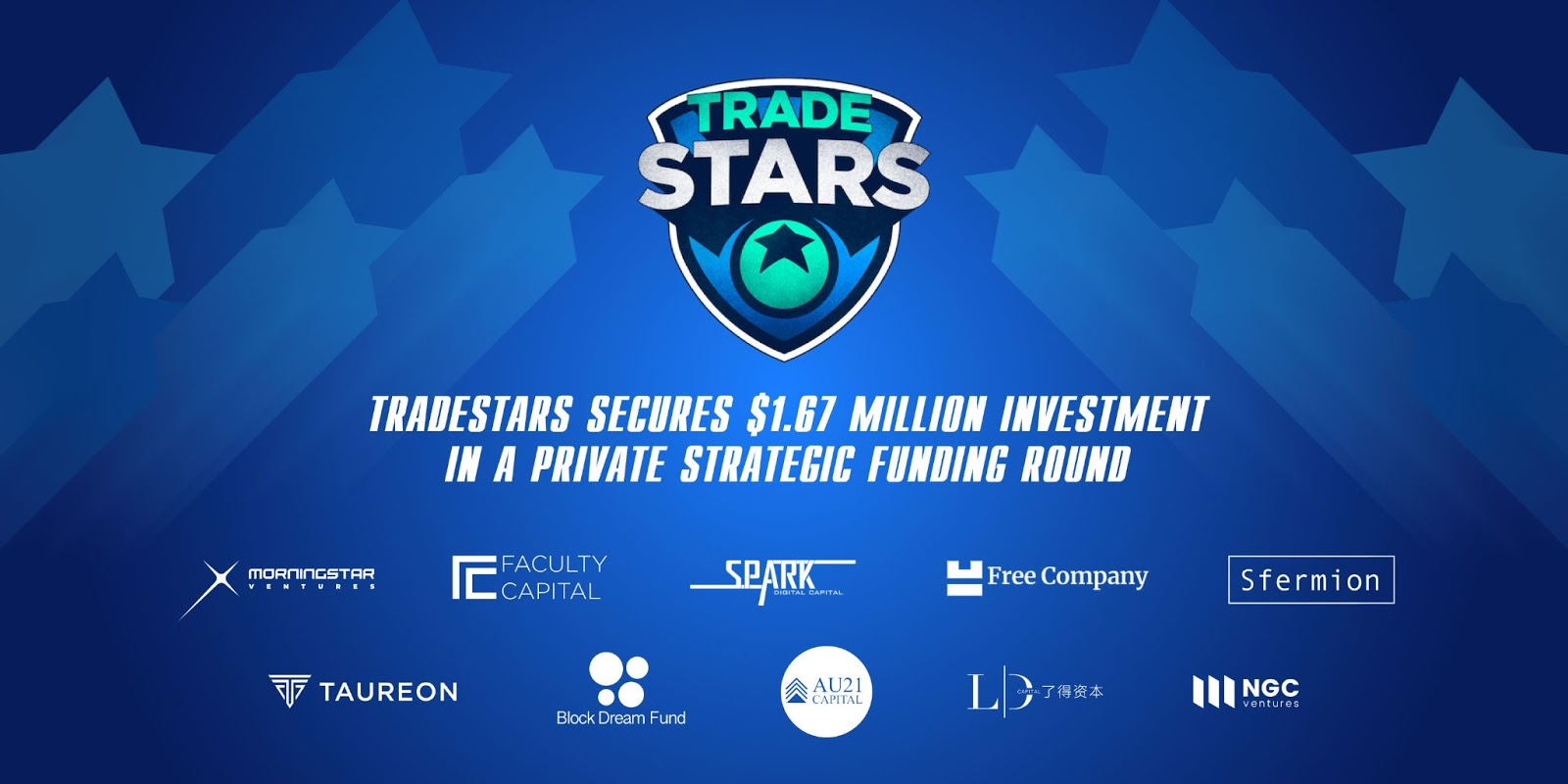 Tradestars secures $1.67 million investment in a private strategic funding round