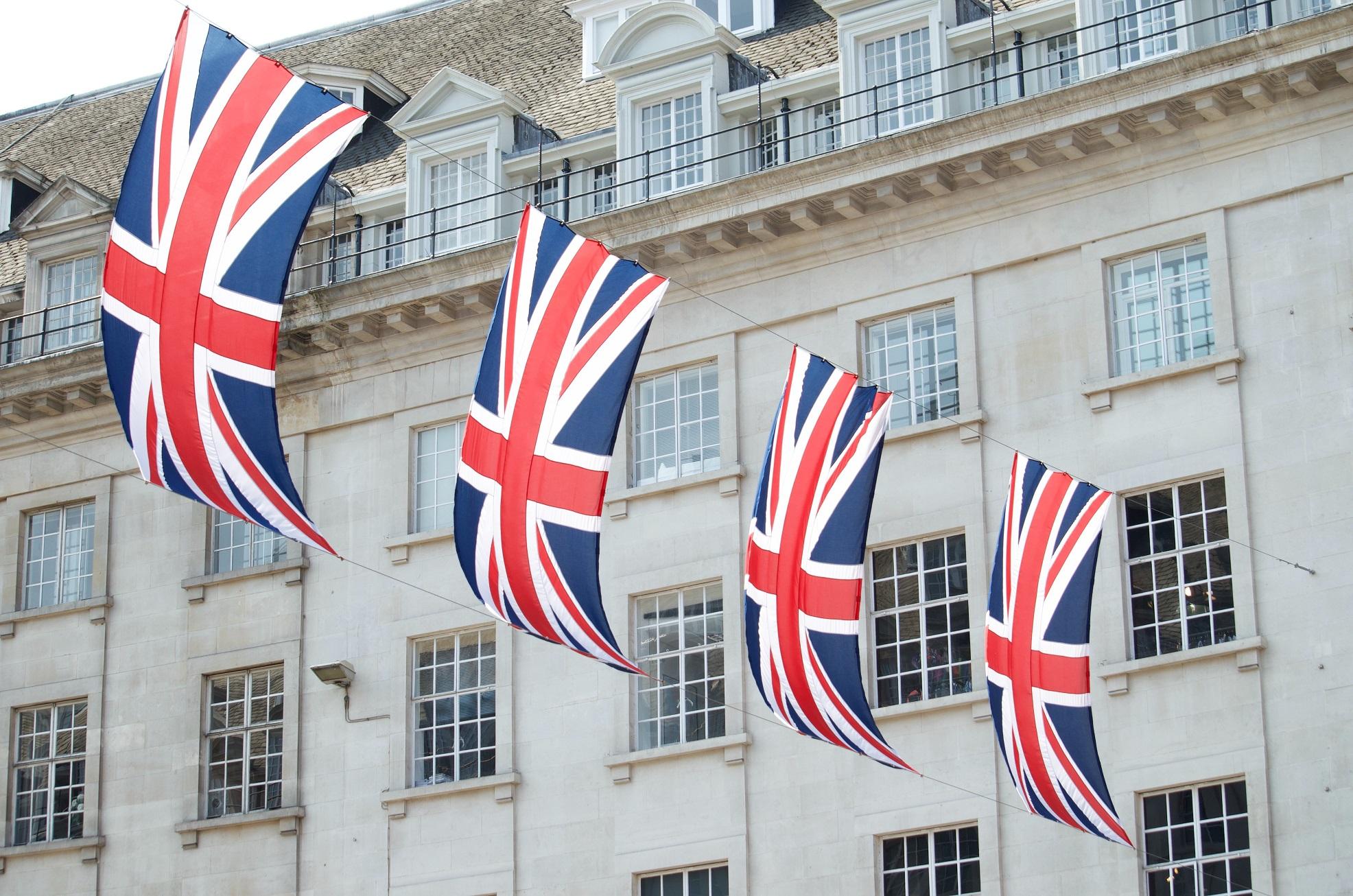 Bank of England. flags.