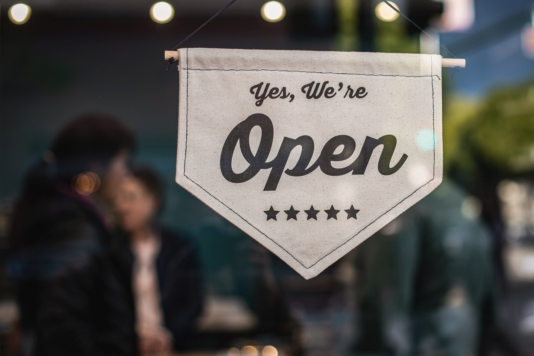 Small and Medium Businesses, Open sign