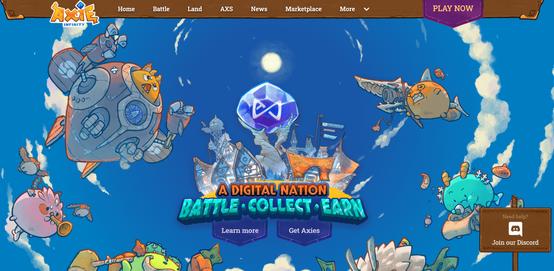Axie Infinity Home Page
