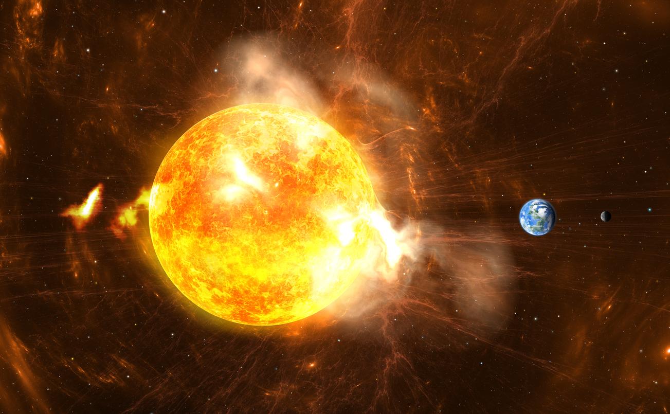 bitcoin sun spot solar flare stock market vix