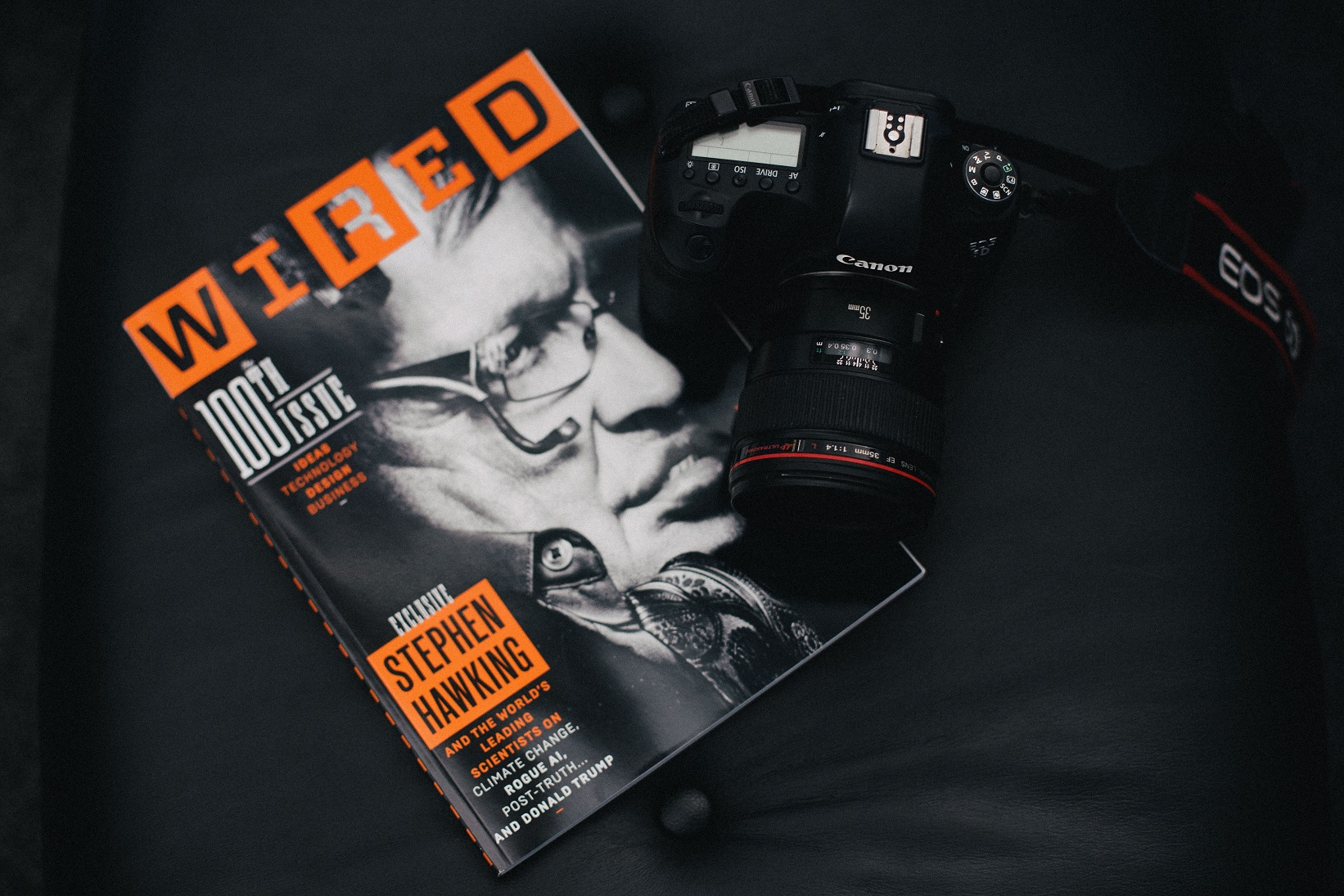 Wired, a magazine with Stephen Hawking on the cover