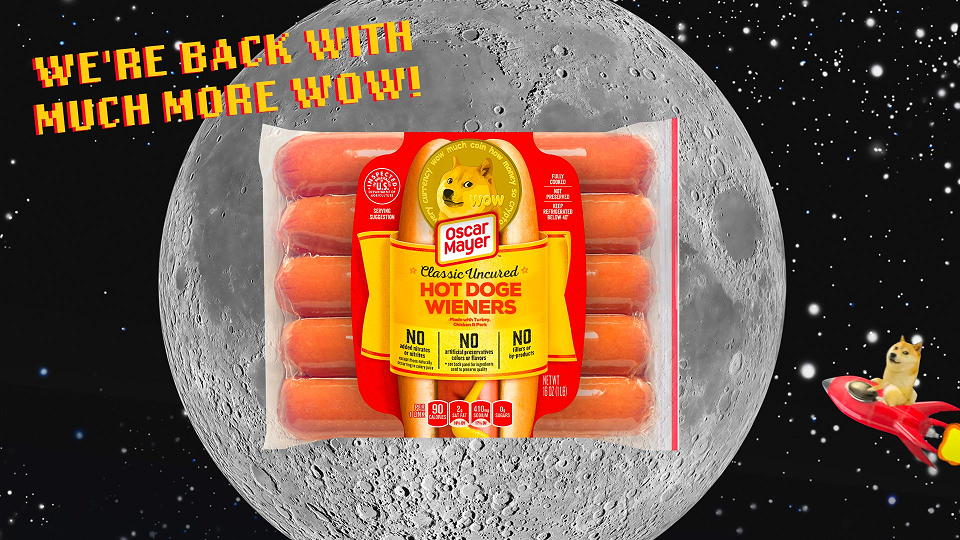 Hot Doge: Oscar Mayer's Dogecoin Hotdogs Sell At Auction For $15k
