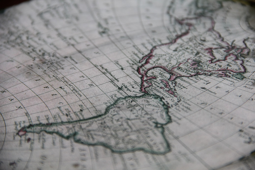 Latin America, a map of America