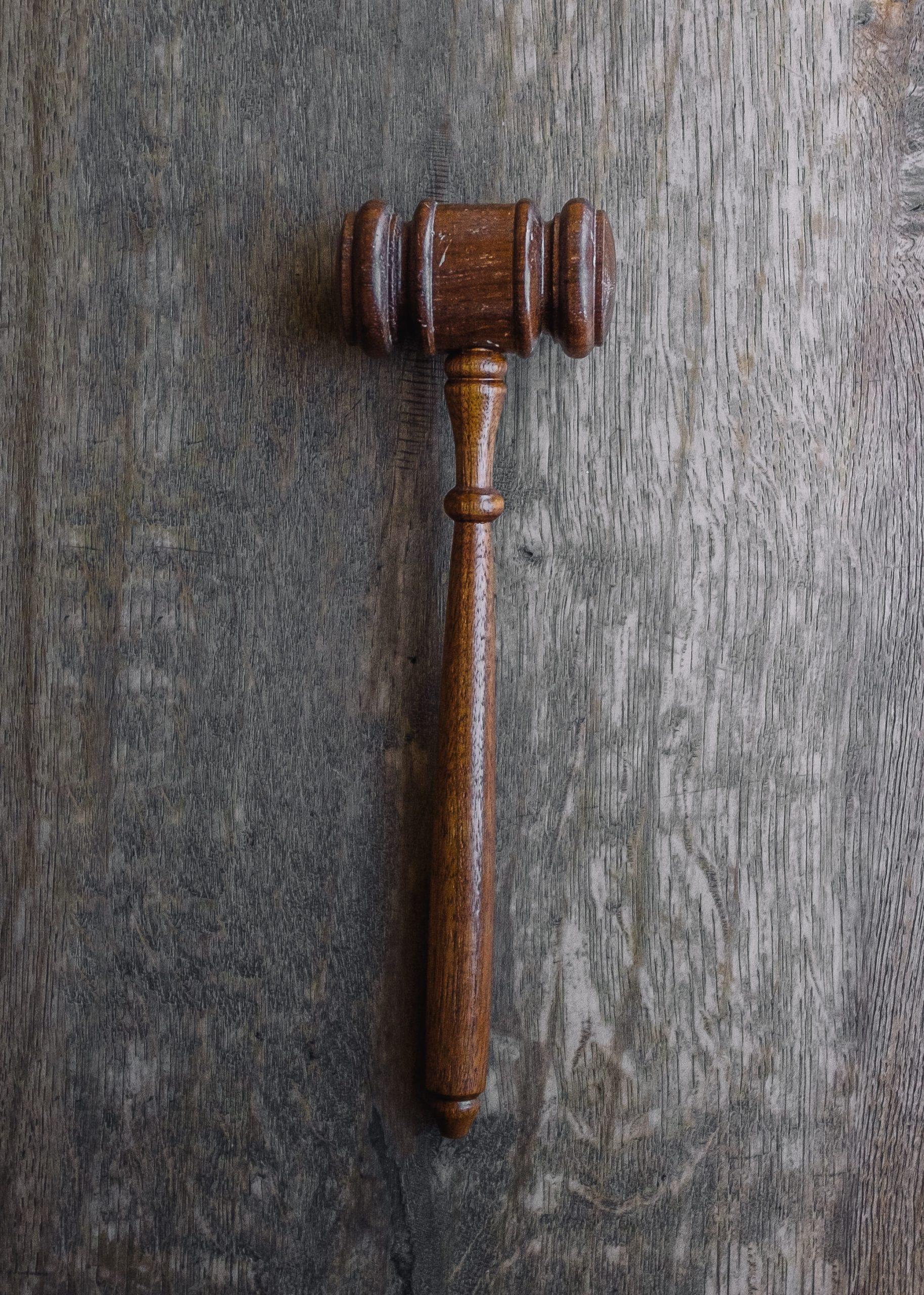 Bitcoin trust, a judge's hammer