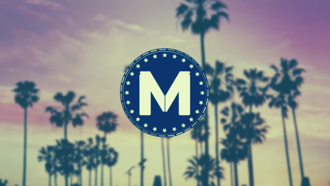 Picture of MiamiCoin icon with palm tress as backdrop